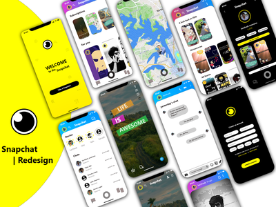 Snapchat Redesign illustration branding website app website design web ux ui design