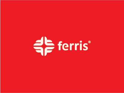 Ferris mark branding monogram brand bold ferris logo strong worldwide f letter icon
