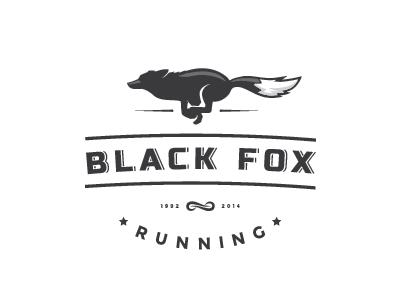 Black Fox albania logo fox running brand strength speed power