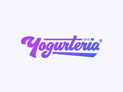 Yogurteria Logo yogurteria logo brand logo ice cream ice food typography frozen calligraphy yogurt