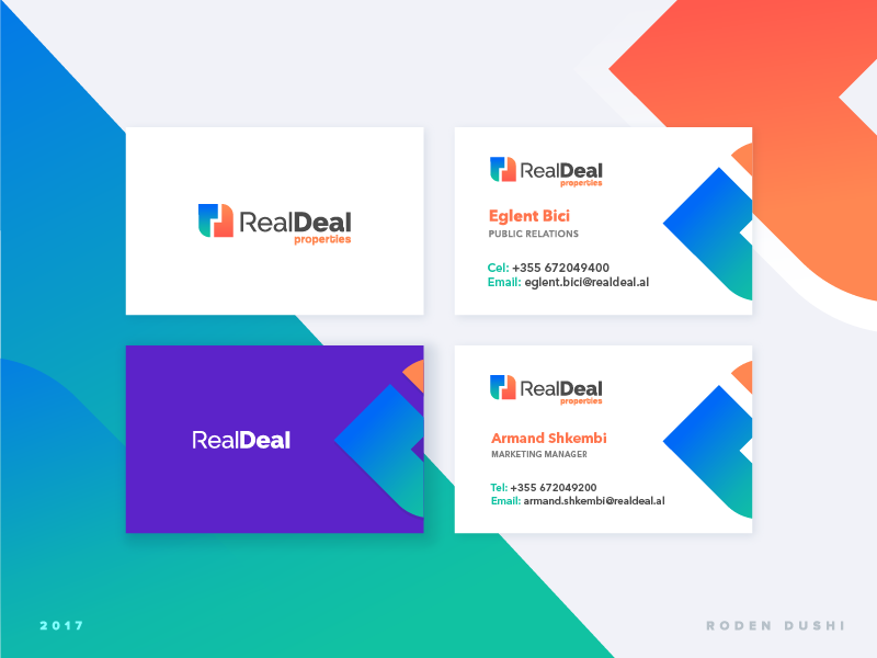 Business card Real Deal by Roden Dushi - Dribbble