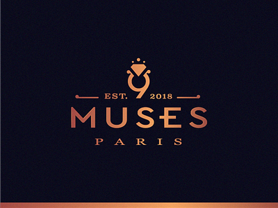 9 MUSES Paris (JEWELRY) 9 diamond stone store boutique shop shopping muses grece mitology jewelry company business logo class brand branding gold paris rome jewellery luxury ring wedding business shop