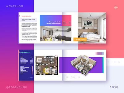 Catalog print editorial e-commerce company construction magazine roden dushi logo design catalog
