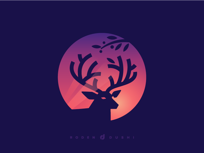 Deer Logo Design negative space albania symbol top best icon tree sunset sundown brand book roden design dushi mark identity logotype tree elk production company studio design hunting brand film logo animal strong identity deer design brand book branding
