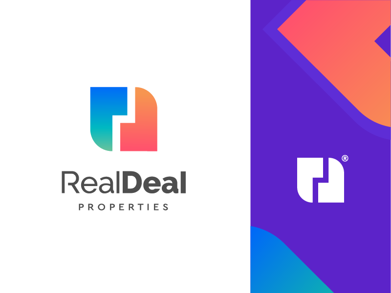 Real Deal (rd + deal + building from above) b rand book client albania identity brandbook symbol i rent studio house villa properties shop sell bay icon solid building company business design mark brand logo design identity house deal realestate realm estate building logotype work logo type realdeal properties dr rd monogram letter