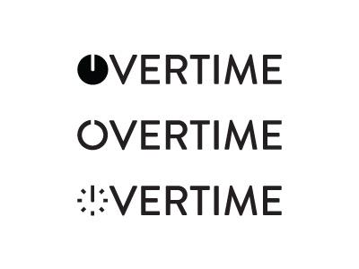 Overtime Logo logo branding design lettering type typography