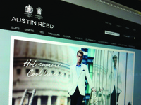 Austin Reed Header & new site updates