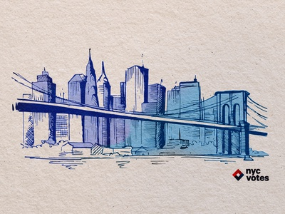NYC in the watercolor