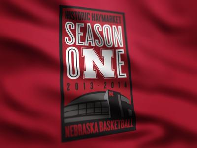 Season One - Nebraska nebraska basketball sports design