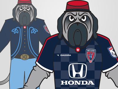 Zeke the Zoulave soccer indianapolis nasl sports design mascot