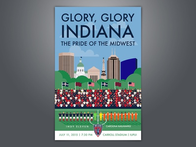 Glory Glory Indiana poster indianapolis soccer nasl indy eleven