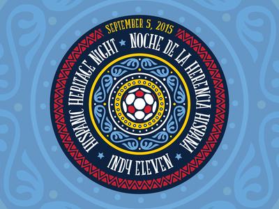 Hispanic Heritage Night Logo logo design soccer nasl indy eleven indianapolis