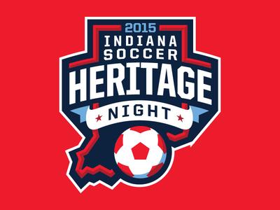 Indiana Soccer Heritage Night Logo logo design soccer nasl indy eleven indianapolis