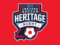 Indiana Soccer Heritage Night Logo