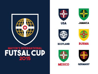 Futsal Cup Identity logo design soccer futsal indianapolis