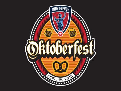Oktoberfest Event Logo nasl soccer indy eleven craft beer beer indianapolis
