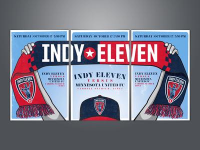 Indy Eleven Gameday Poster minnesota united poster indianapolis soccer nasl indy eleven