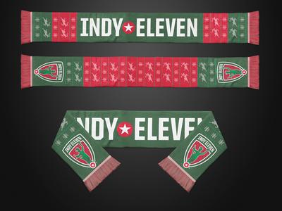 Indy Eleven Ugly Xmas Scarf xmas christmas scarf indianapolis soccer nasl indy eleven