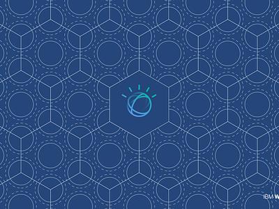 IBM Watson hex grid watson vector ibm