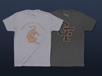 Introducing Sugar&Frogs chagrin falls tees tiger monogram ohio