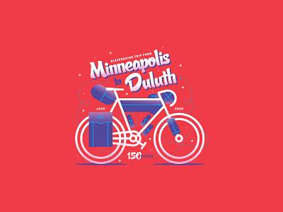 MN 150 gravel illustration badge adventure minnesota minneapolis duluth bikepacking biking bike