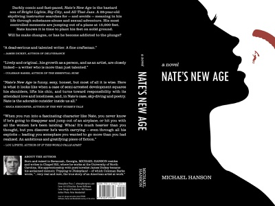 Nate's New Age Cover indesign illustrator photoshop composition layout print icon design iconography book cover design book cover publication design illustration logo graphic design design