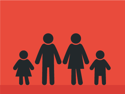 Family Icons icon people family adults children person silhouette illustration vector simple