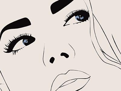 Jane illustration illustrator line drawing eyes woman