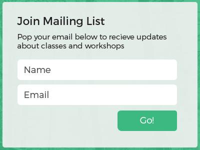 Mailing list form web design website ui