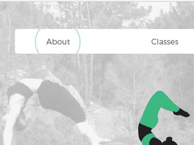 Navigation web design website ui