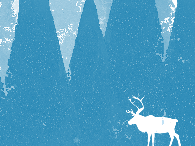Shape Christmas shape christmas madebyshape shape christmas reindeer ink print lino lino cut illustration