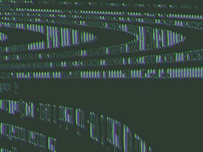 Glitch Code 3 type art scan code glitch