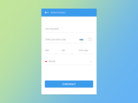 20 Days Sketch UI Contest #day002 - Credit Card Checkout