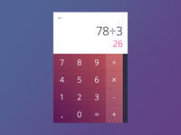 20 Days Sketch UI Contest #day004 - Calculator