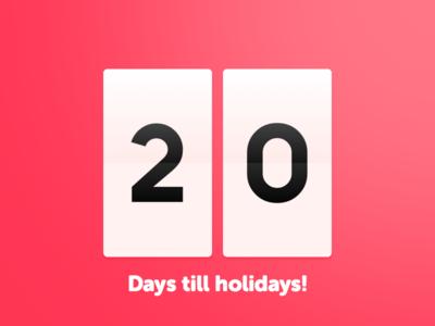 20 Days Sketch UI Contest #day014 - Countdown Timer by Paweł ...