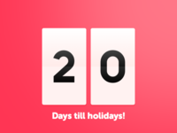 20 Days Sketch UI Contest #day014 - Countdown Timer