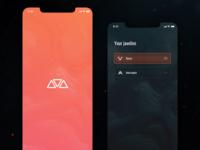 Anthem Companion App Concept - Splashpage & Javelin selection