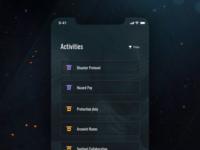 Anthem Companion App Concept - Activities