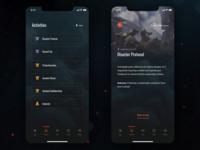 Anthem Companion App Concept - Activities & details