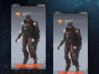 Anthem Companion App Concept - Javelin Gear