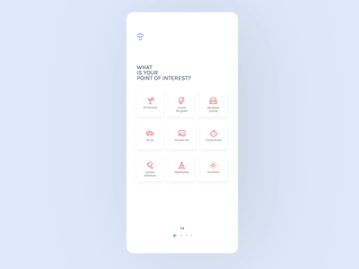 Travel assistant app interactions interactive transition mobile app onboarding steps motion design clean mobile minimal ux ui application motion after effect travel assistant assistant interaction animation app design app