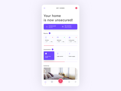 Smart home app - dashboard concept appliances internet of things iot automation devices clean ui ui design clean mobile app mobile interface ux ui smart home smart home app smarthome home dashboard app