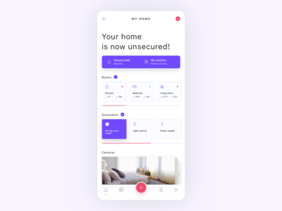 Smart home app - dashboard