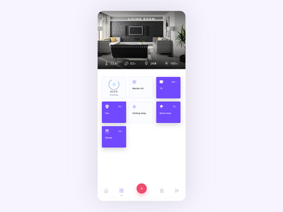 Smart home app - rooms white devices design ux ui smart home app smart home smarthome mobile app mobile ui mobile iot internet of things interface home concept clean ui automation app app ui