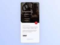 Gym app workout details [concept]