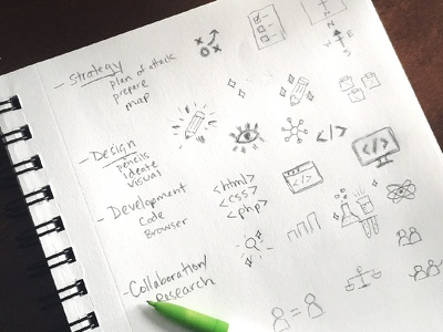 Icon Sketches illustration design process process sketch icons