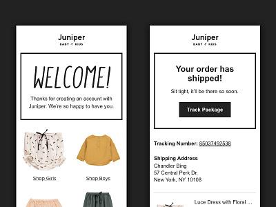 Ecommerce Emails clothing fashion kids retail ecommerce email