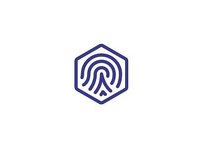 Photo Authentication security certify authentic fingerprint logo mark identity design brand identity logo