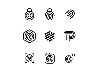 Photo Authentication Logo security certify authentic fingerprint logo mark identity design brand identity logo