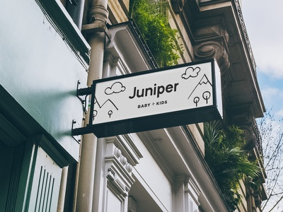 Juniper Signage children kids ecommerce retail fashion identity design brand identity logo